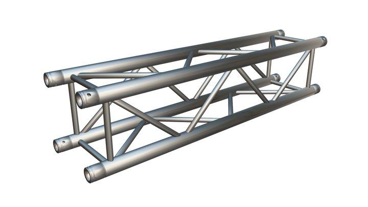 Square Truss Straight Segment 21 3D Model