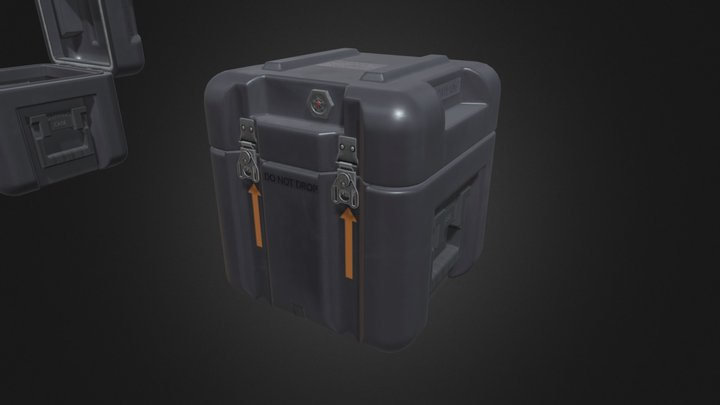 Small Military Case 3D Model