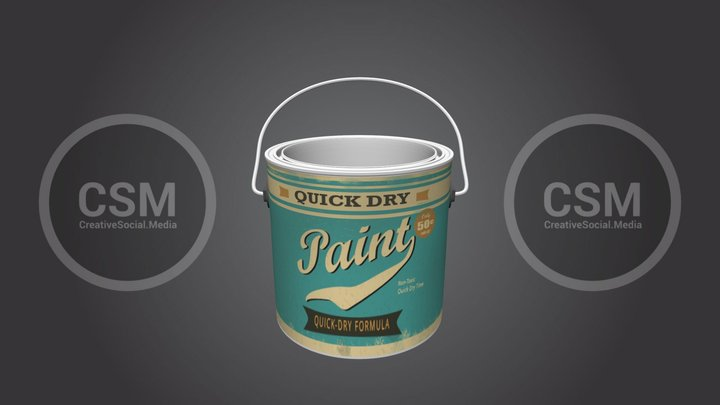 Vintage Paint Can - Gaming  - duplicated version 3D Model