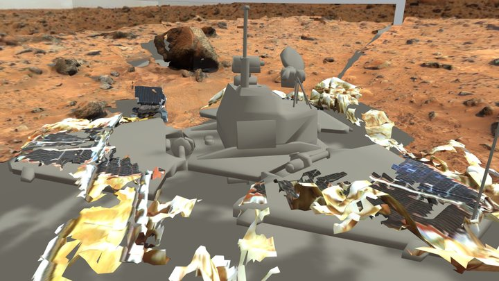 NASA Pathfinder landing site - 1997 3D Model