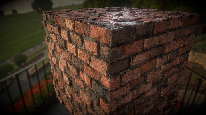 Brick material 02 3D Model