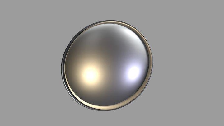 Tinplate Areosol Bottom Diam. 62 mm 3D Model