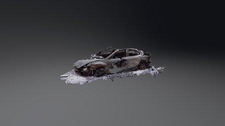Burned out car 3D Model