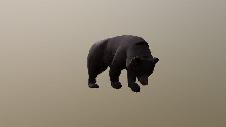 Bear B Posed 0006 3D Model