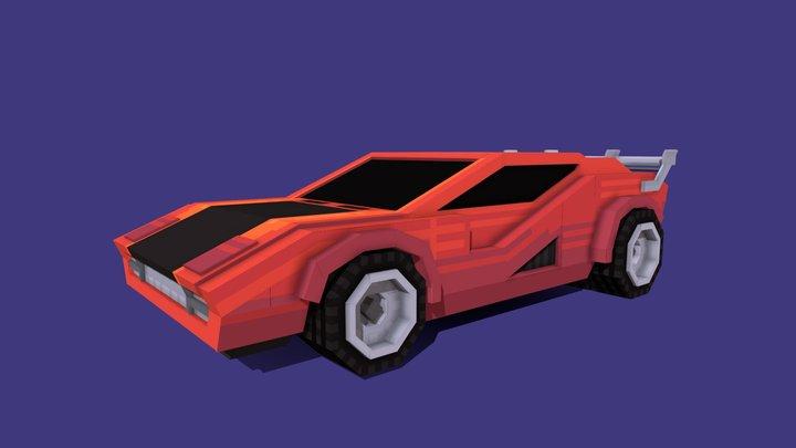 Cyberpunk Racer - Blockbench 3D Model