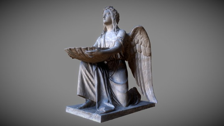Baptismal Angel kneeling 3D Model