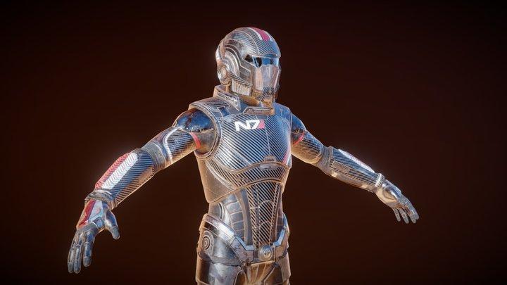 Mass Effect N7 - Fan Art 3D Model