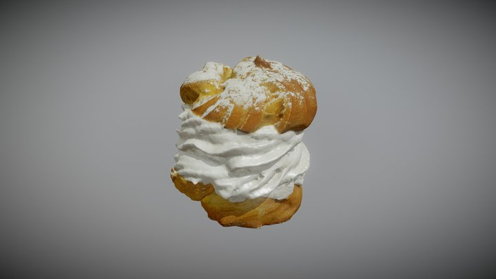 cream puff, ptys 3D Model