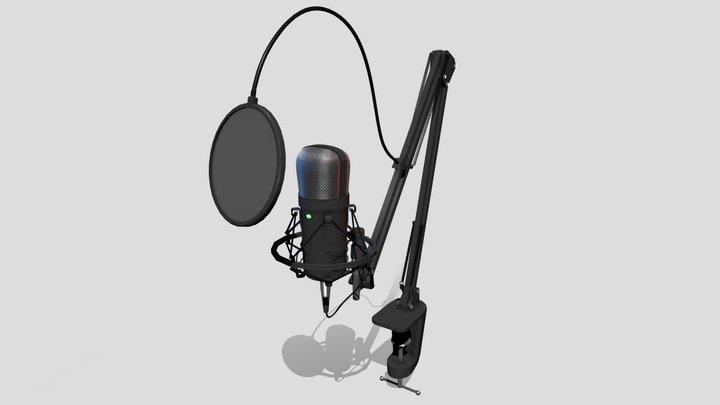 Studio Microphone 3D Model