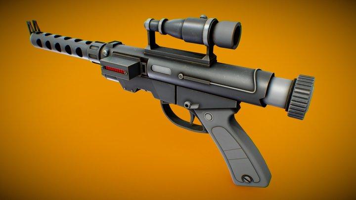 RG4D Blaster Pistol - Star Wars 3D Model
