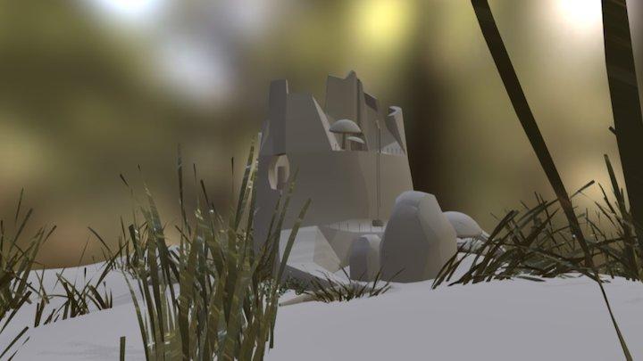 Tree Stump Abode 3D Model