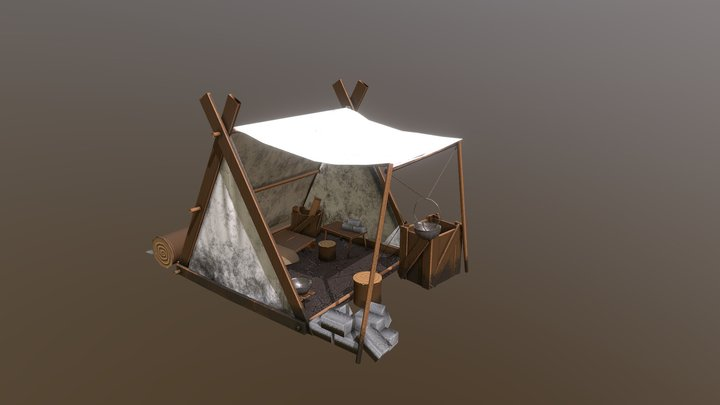 Trenton - Celtic Tent 3D Model