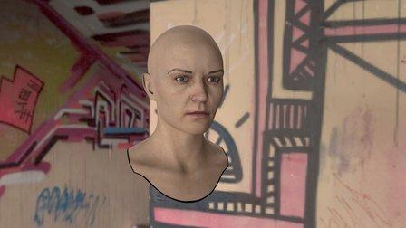 3d Model Woman Head Zip Smooth 3D Model