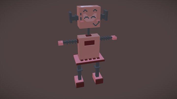 Female Pinky Robot 3D Model