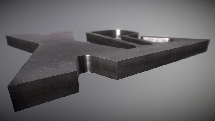 Amostra de corte em aço inoxidável 3D Model