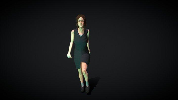 Fearful Woman 3D Model