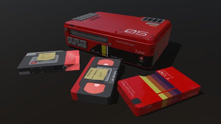 YooTube SciFi Video Player 3D Model