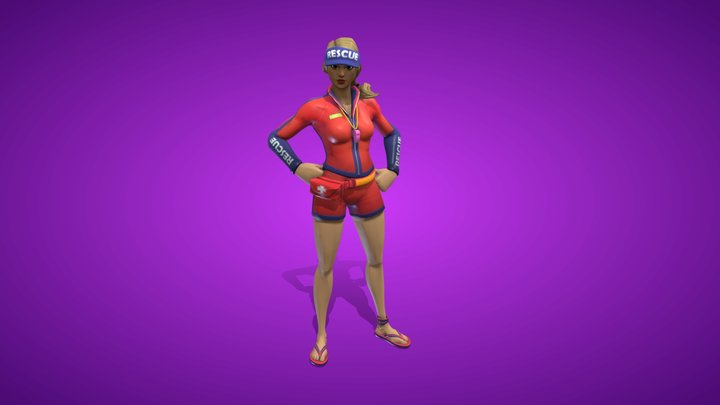Sun Strider Outfit 3D Model