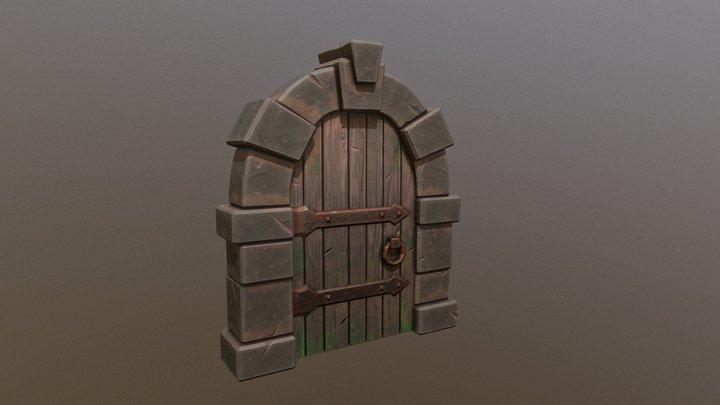Stylized Medieval Fantasy Door 3D Model