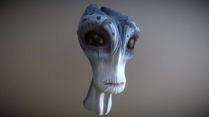 Salarian Head 3D Model