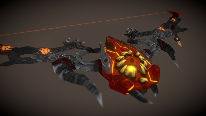 Stylized WOW Weapon Scorchfang 3D Model