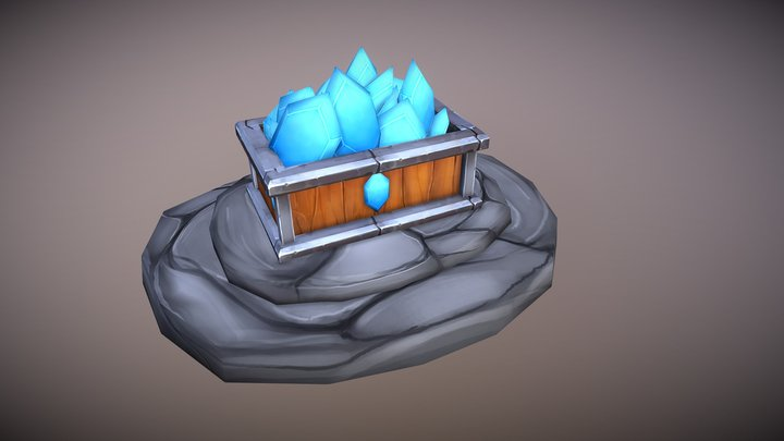 Blue Gems 3D Model