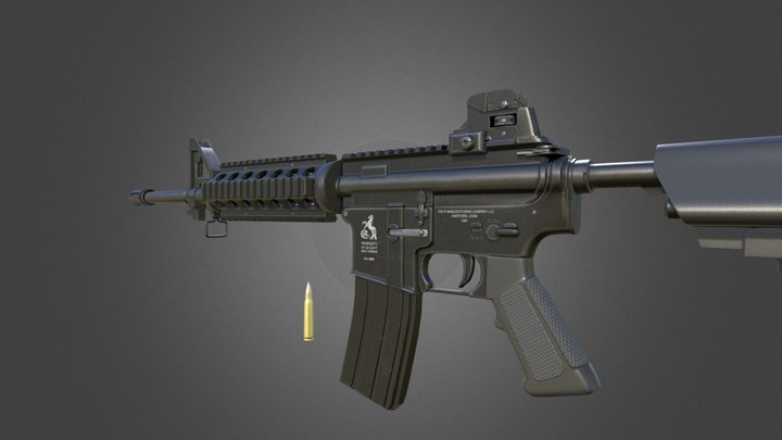 M4A1 Assault Rifle Game Ready 3D Model