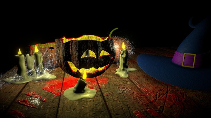 Halloween table 3D Model