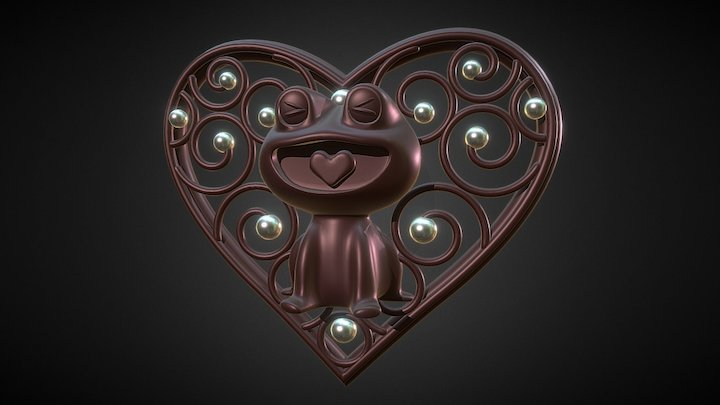 Happy Valentine's Day 3D Model