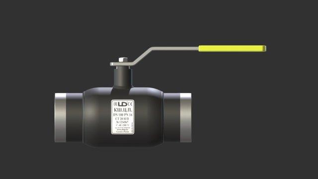 Ball valve Dn100 3D Model