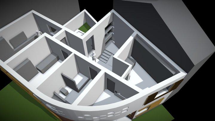 Papadiei 7 _ 23.05.2019 _ plan etaj 3D Model
