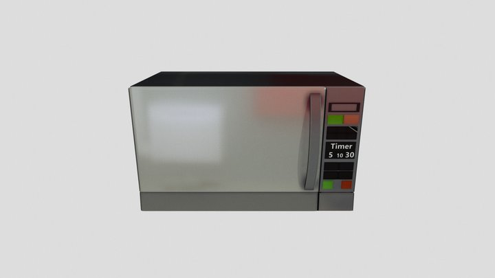 microwave animate 3D Model