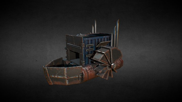 Brute ship (Pirates faction) for Water world MMO 3D Model