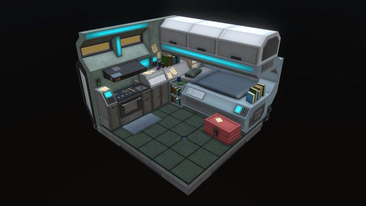 Futuristic Compact Room 3D Model