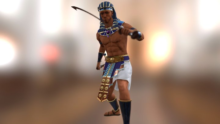 Anubis Warrior Pose2 3D Model