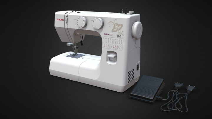 Sewing machine Janome Juno 523 3D Model