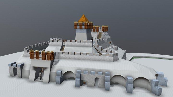 Snow castle. ZKP. Ver.10 3D Model