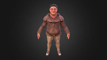 Evil Monk (schoolwork) 3D Model