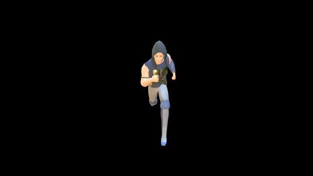 Finch Run Animation 3D Model