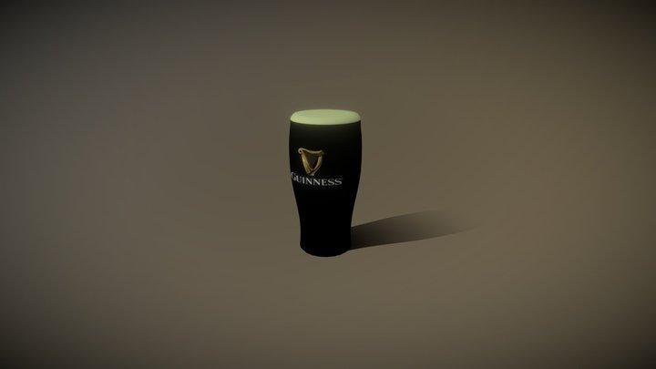 Pint of Guinness 3D Model