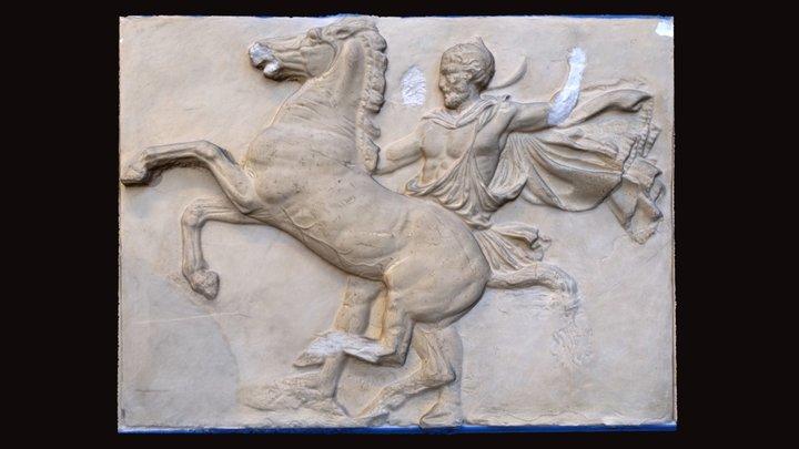 Cast of Parthenon Frieze Block West VIII 3D Model