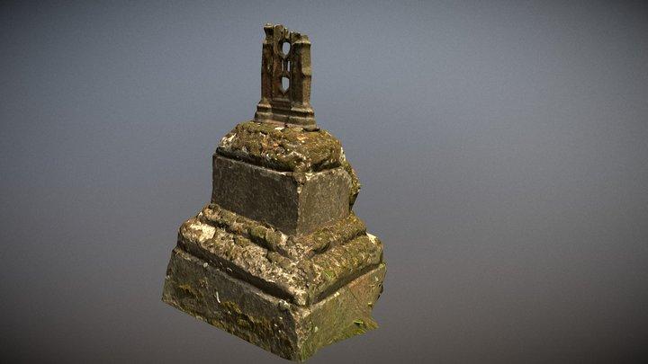 Photorealistic remains of broken cross LOD 3D Model