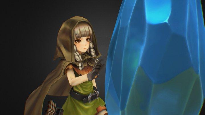 """Dragon's Crown """"Elf"""" -Fanart 3D Model"""