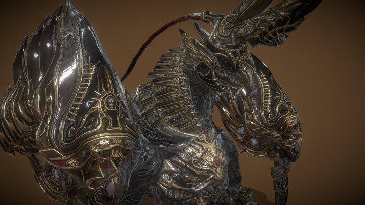 Golden Griffin 3D Model