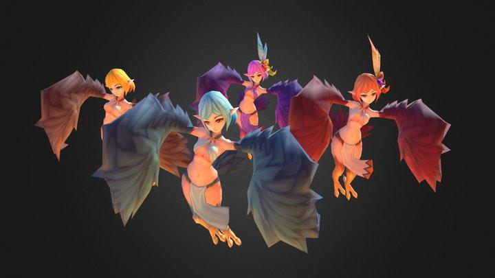 Harpy 3D Model
