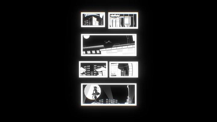 Sly Cooper - Comics 3D Model