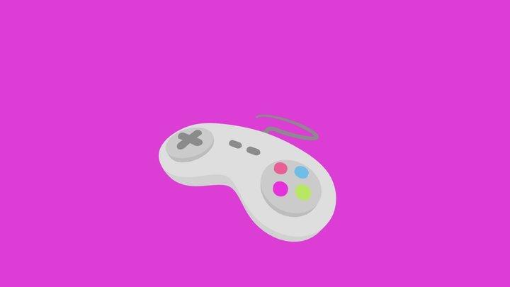 Retro Videogame Controller - SNES 3D Model