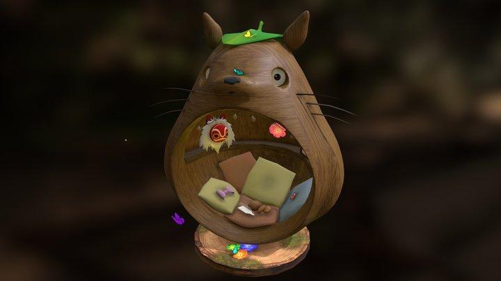 Homey Totoro MediaShow 3D Model