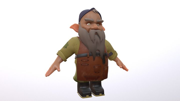Herbert The Gnome Tinkerer 3D Model