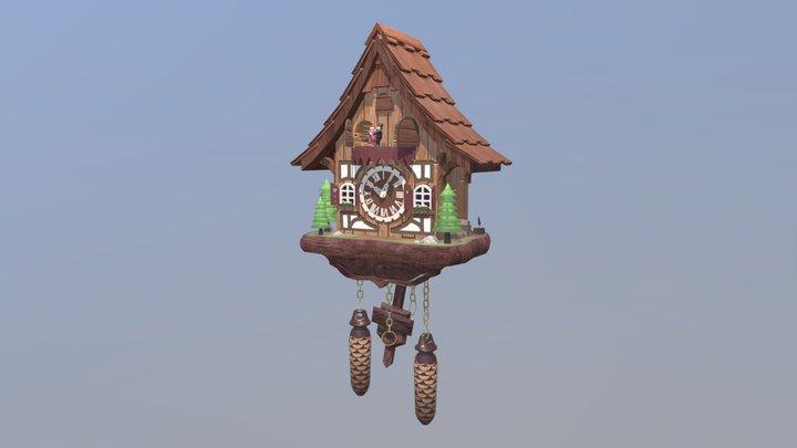 Wooden Cuckoo Clock 3D Model